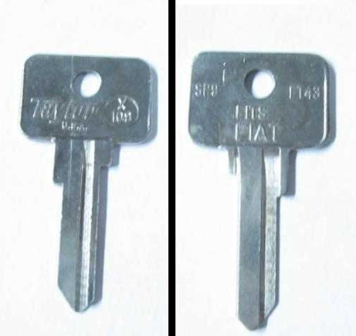 IGNITION & DOOR KEY BLANK