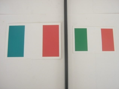 ITALIAN FLAG STICKER LARGE