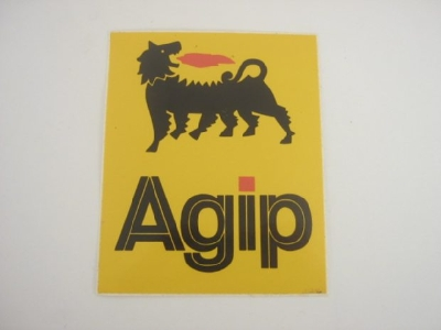 AGIP YELLOW STICKER W BEAST