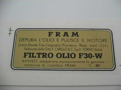 FRAM OIL FILTER WATER TRANSFER