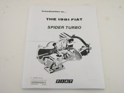 INTRODUCTION SPIDER 2000 TURBO