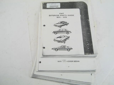 1974-78 OUTER PARTS BOOK, COPY
