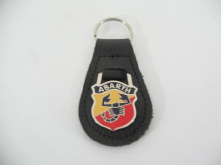 ABARTH BLACK LEATHER KEY FOB