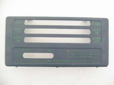 HEATER DEFROST CONTROL PANEL