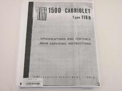 118 H 4-SPD SERVICE BOOK, COPY