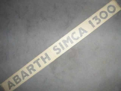 """ABARTH SIMCA 1300"" STICKER"