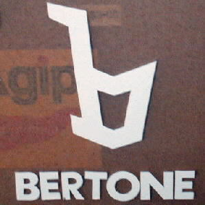 BERTONE B VINYL STICKER, WHITE