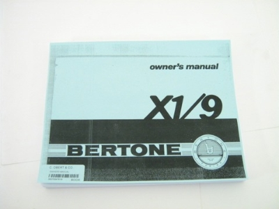OWNERS MANUAL, COPY