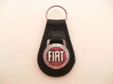 LEATHER KEY FOB W FIAT WREATH