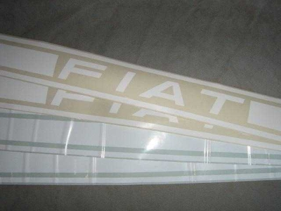 "WHITE ""FIAT"" SIDE STRIPE KIT"