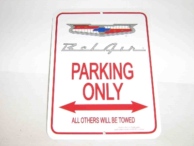 BELAIR PARKING ONLY SIGN