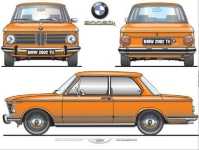 BMW 2002 TII POSTER