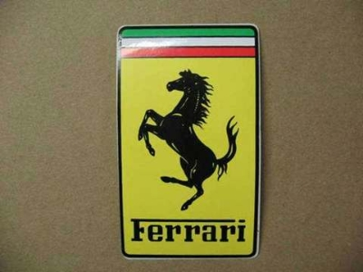 FERRARI FRONT BADGE STICKER