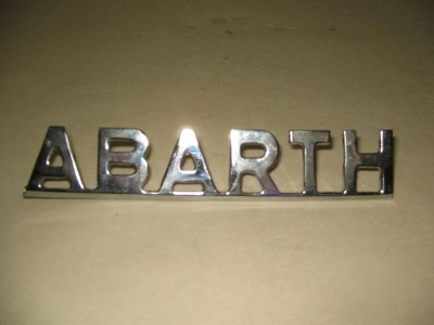 "CHROME ""ABARTH"" EMBLEM"
