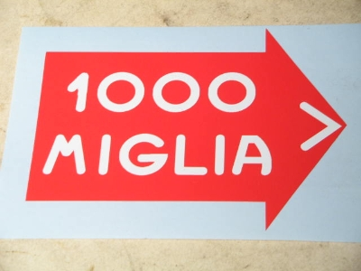 84 MM LONG 1000 MIGLIA STICKER