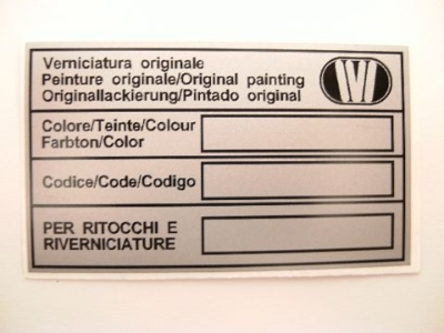 IVI COLOR CODE STICKER, SILVER