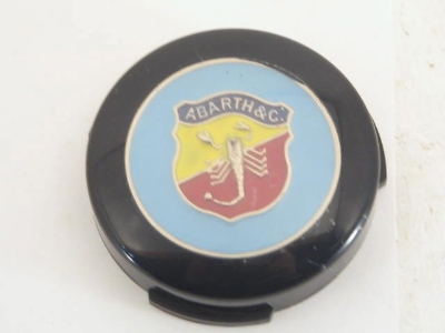BLUE ABARTH HORN BUTTON INSET