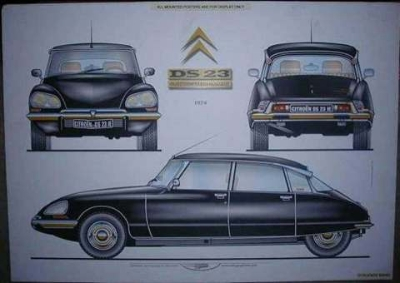 1974 CITROEN DS 23 IE POSTER
