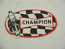 OVAL CHAMPION STICKER