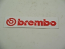 BREMBO STICKER RED ON WHITE
