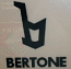 BERTONE B VINYL STICKER, BLACK