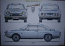 SIMCA 1200S 3 VIEW POSTER