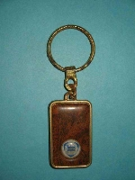 """LANCIA"" KEY FOB IN MAHOGANY"