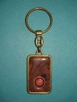 FIAT KEY FOB IN MAHOGONY