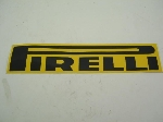 PIRELLI STICKER BLACK & YELLOW