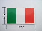 ITALIAN FLAG STICKER, MEDIUM