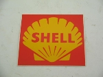 SHELL FUEL STICKER 85 X 80 MM