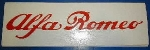ALFA ROMEO RED SCRIPT STICKER