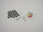 ABARTH & CHECKERED FLAGS STIKR