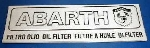 ABARTH OIL FILTER STICKER