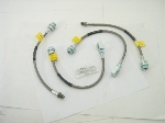 S/STEEL BRAIDED BRAKE HOSE SET