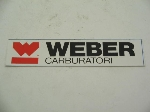 WEBER CARBURATORI STICKER