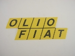 "FIAT""OLIO FIAT"" STICKER 190 MM"