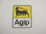 AGIP YELLOW & WHITE STICKER