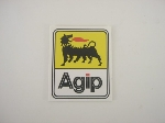 AGIP YELLOW/WHITE STICKER 93MM