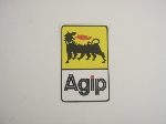 AGIP YELLOW/WHITE STICKER 87MM