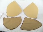 BEIGE REAR WHEEL COVER PAIR