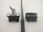4 TERMINAL BLACK TOGGLE SWITCH