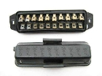 FUSE BOX WITH COVER, 10 FUSES