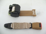 REAR SEAT BELT- BROWN