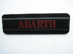 """ABARTH"" EMBLEM, RED & BLACK"