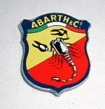 ABARTH & CO STICKER 25 MM TALL
