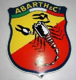 ABARTH & CO. STICKER 180 MM