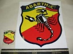 """ABARTH & C"" SHIELD STICKER"