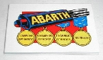 ABARTH MUFFLER DECAL
