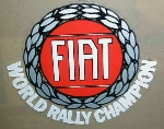 FIAT WORLD RALLY CHAMPION LRG